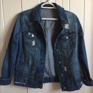 BP. Nordstrom Distressed Oversized Denim Jacket